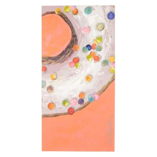 Polka Dot Sweetness Donut Painting For Sale
