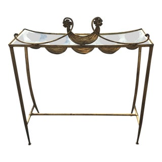 Mid-Century Modern Italian Brass Console Table For Sale