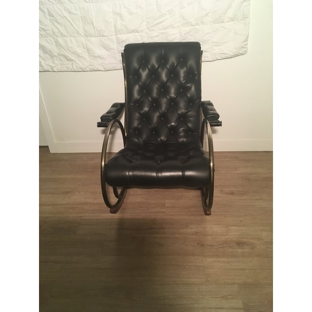 Brass Lee L. Woodard Rocking Chair For Sale - Image 7 of 11