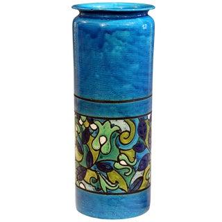 Huge Bitossi Pottery Londi Vase Italian Rn Label Raymor Ceramic Umbrella Stand For Sale