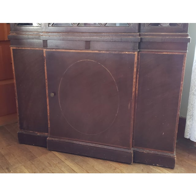 20th Century Gothic Mahogany China Cabinet For Sale - Image 4 of 12