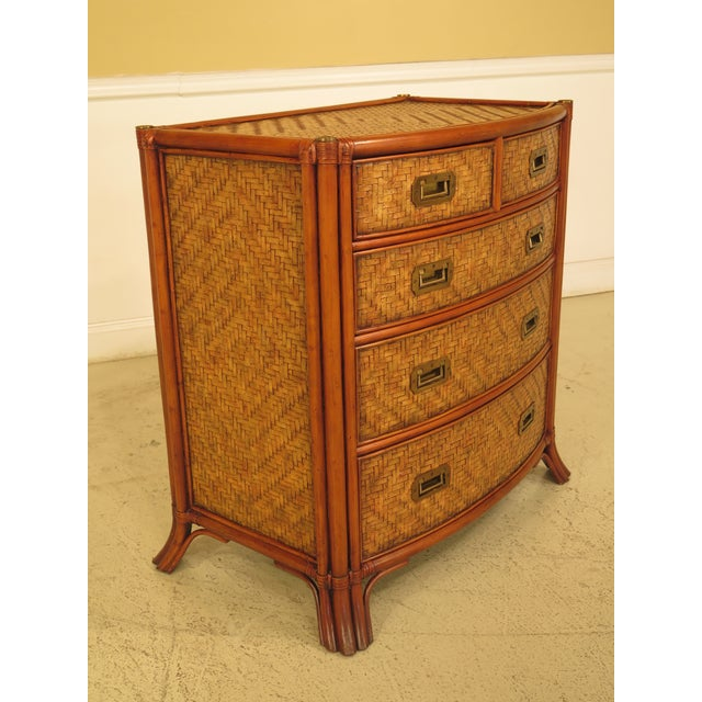 Maitland - Smith Maitland-Smith Bow Front Woven Leather Chest For Sale - Image 4 of 11