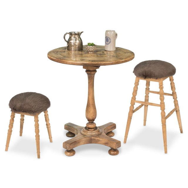 Sarreid Ltd. Sarreid LTD Brown 'Winoma' Stool For Sale - Image 4 of 7