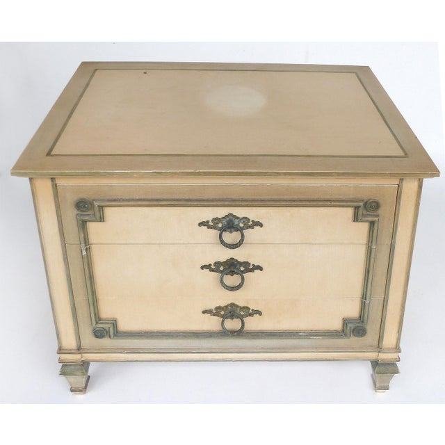 John Widdicomb Hand Painted Night Tables With Drawers, Pair For Sale - Image 10 of 13