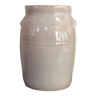 Antique 6 Gallon Stonewear Saltglazed Crock For Sale