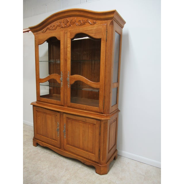 Ethan Allen Ethan Allen Legacy French County Server China Cabinet For Sale - Image 4 of 13