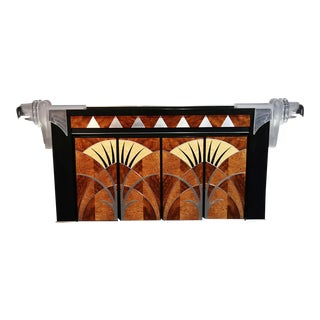 Signed Vladimir Kagan Art Deco Liquor Bar With 4 Chairs For Sale