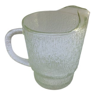 1970s Vintage Glass Pitcher For Sale