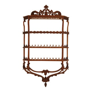 Chippendale Carved Mahogany Tier Shelf