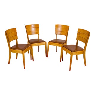Heywood Wakefield C3714 Dining Chairs - Set of Four For Sale