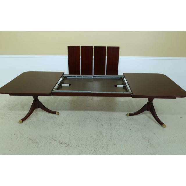1990s Kindel Duncan Phyfe Oxford Mahogany Dining Room Table For Sale - Image 5 of 13
