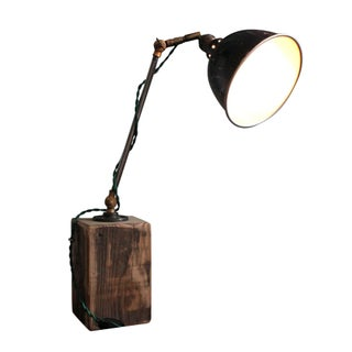 Hinged Industrial Desk Lamp For Sale