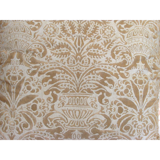 Gold Fortuny Custom Pillow - Image 3 of 5