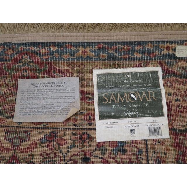 Red Vintage Karastan Kirman Panel Throw Rug- 2′11″ × 6′ For Sale - Image 8 of 9