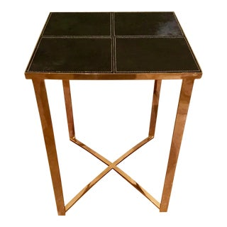 Cyan Design Modern Black Hair on Hide Reality Side Table For Sale