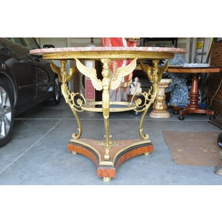 1950s French Empire Mahogany and Bronze Center Table Preview