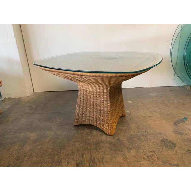 Wicker Sculptural Wicker Dining Table For Sale - Image 7 of 7