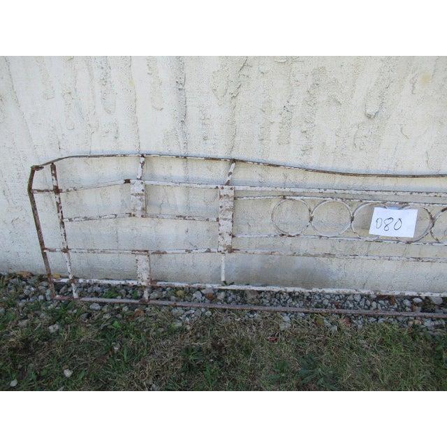 Victorian Antique Victorian Iron Gate Window Garden Fence Architectural Salvage Door #081 For Sale - Image 3 of 6