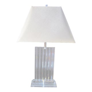 Mid-Century Karl Springer Style Lucite Lamp For Sale