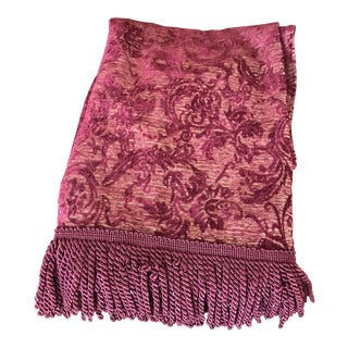 Velvet Floral Red and Gold Throw For Sale