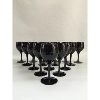 Mid-Century Hand-Blown Dessert Wine Glasses - Set of 16 Preview