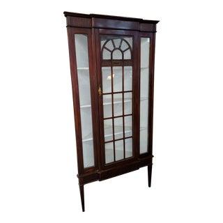 Antique Edwardian Style Mahogany Corner Cabinet For Sale