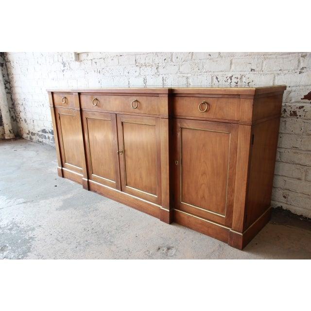 Vintage Baker Furniture Cherry Wood Brass Trim Sideboard Chairish