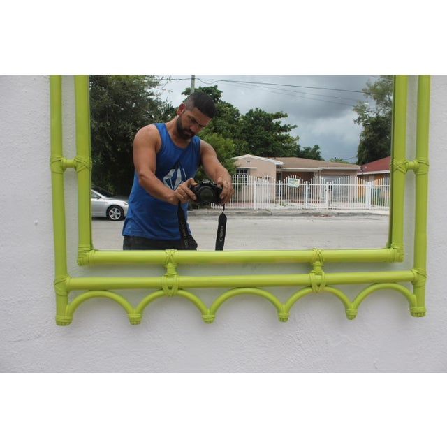 McGuire Bamboo Double Arch Wall Mirror - Image 5 of 9
