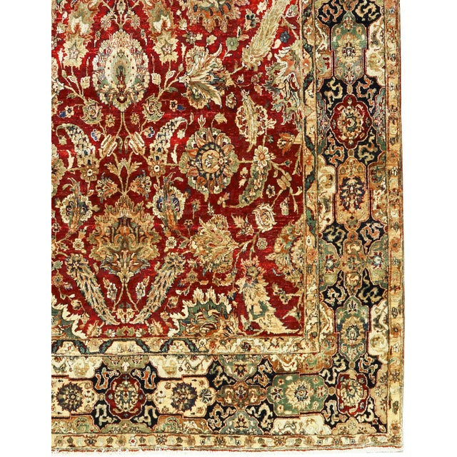 "Islamic Traditional Persian Hand Woven Wool Rug - 8'11"" X 15'1"" For Sale - Image 3 of 3"