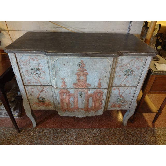 19th Century Italian Painted Commode For Sale - Image 11 of 11