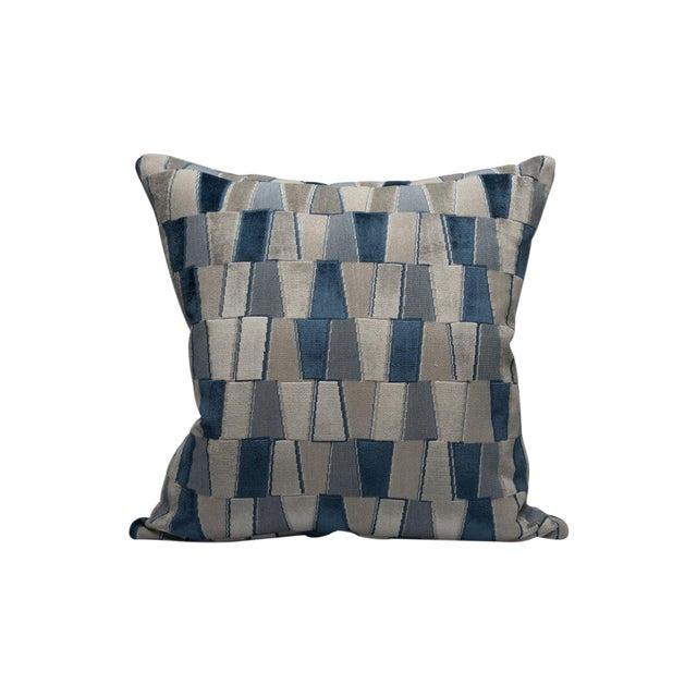 Facets Pillow, Sapphire For Sale