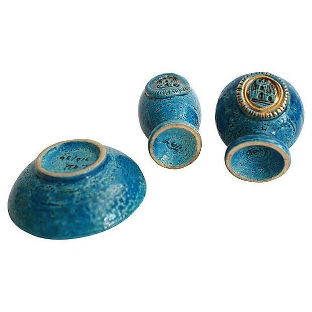 1960s Mid-Century Italian Pottery Smoke Set - Set of 3 For Sale - Image 5 of 5