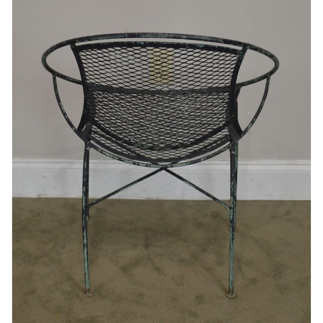 """1960s Salterini Vintage 1960's Wrought Iron """"Radar"""" Patio Lounge Chair For Sale - Image 5 of 13"""