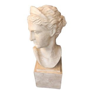 Contemporary Female Bust Statue For Sale