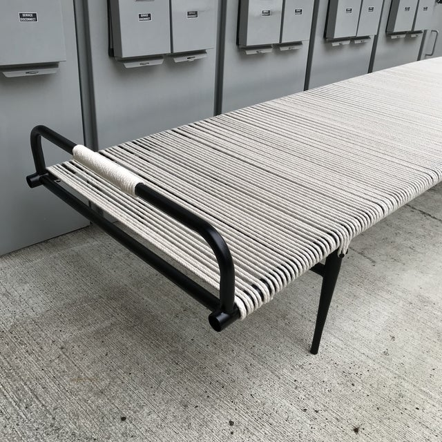 1950s Newly Refinished Rare Chaise Lounge by Mallin For Sale - Image 5 of 13