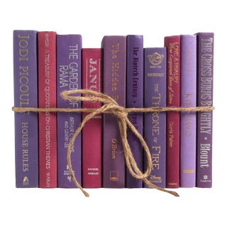Modern Berry Colorpak - Decorative Books in Shades of Purple and Magenta