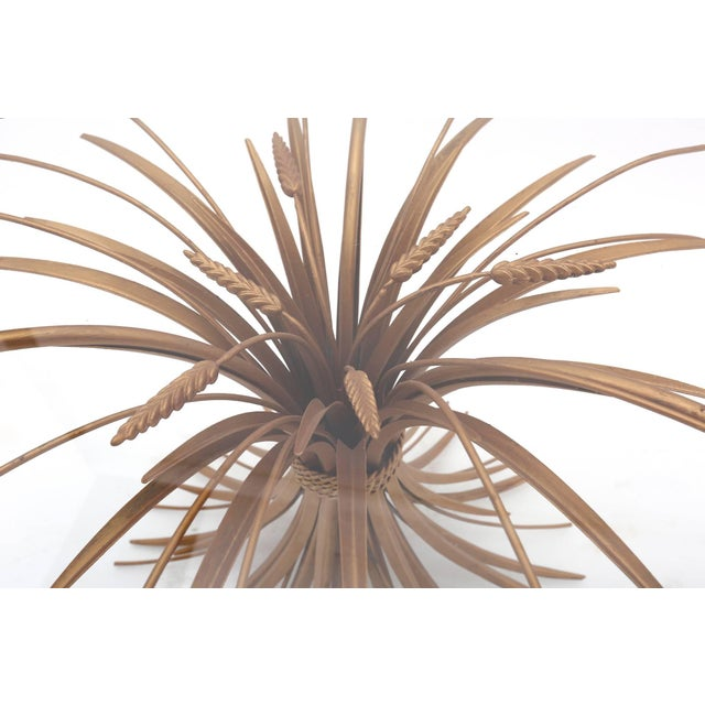 Brass Coco Chanel Wheat Sheaf Coffee Table For Sale - Image 7 of 8