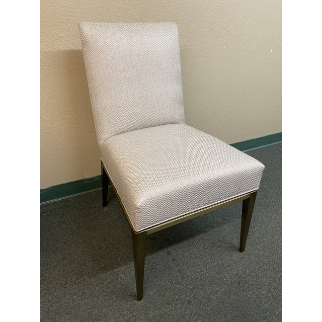 Contemporary New Design Master Richfield Veranda Side Chair in Antique Bronze + Custom Upholstery For Sale - Image 3 of 13