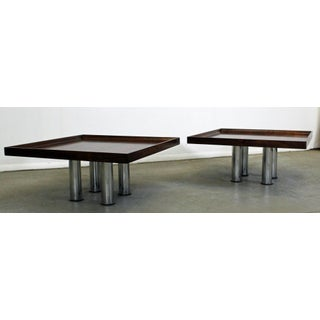 Pair of Mid-Century Danish Modern Knoll Rosewood Chrome Coffee/End Tables Preview