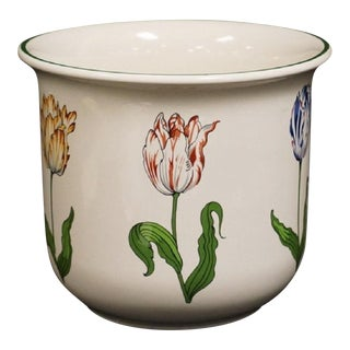 "Final Markdown Tiffany & Co ""Tiffany Tulips"" Porcelain Cachepot"