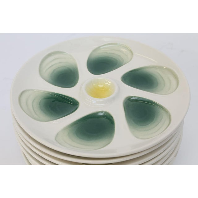 Set of Eight French Oyster Plates For Sale In Houston - Image 6 of 8
