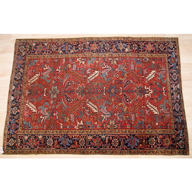 1900s, Handmade Antique Persian Heriz Rug For Sale - Image 11 of 12