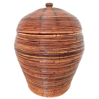 'Java' Cane Storage/Linen Basket