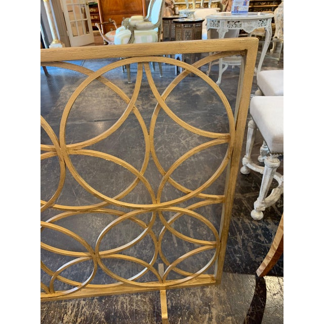 Modern Modern Fire Place Screen in a Gilt Finish For Sale - Image 3 of 7