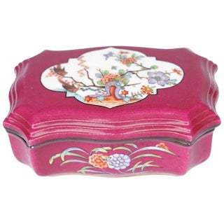 19th Century Meissen Kakiemon Plum Ground Match Box For Sale