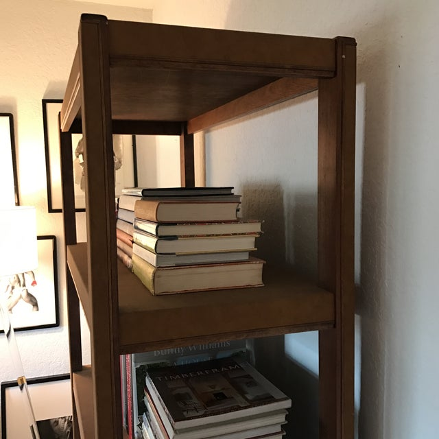 Custom Made Tall Parsons Style Rectangular Bookcase For Sale In Miami - Image 6 of 10