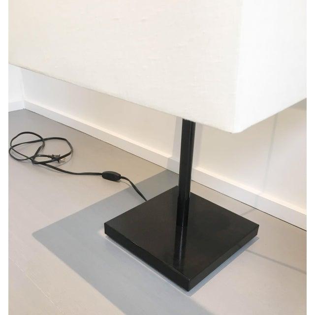 billig zu verkaufen verfügbar populärer Stil Armani Casa Black Satin Metal Table Lamps - a Pair
