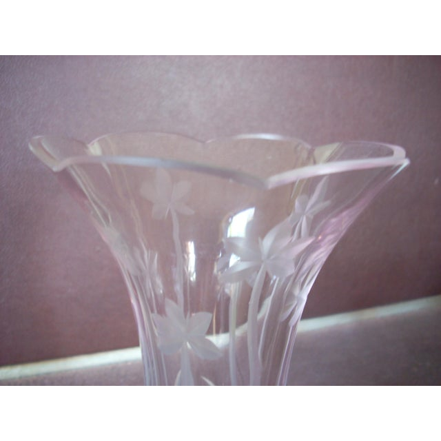 Vintage Lenox Clear Crystal Vase Chairish