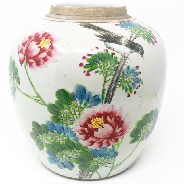 Alabaster Early 19th Century Antique Mud-Stomped Chinoiserie Ginger Jar For Sale - Image 8 of 8