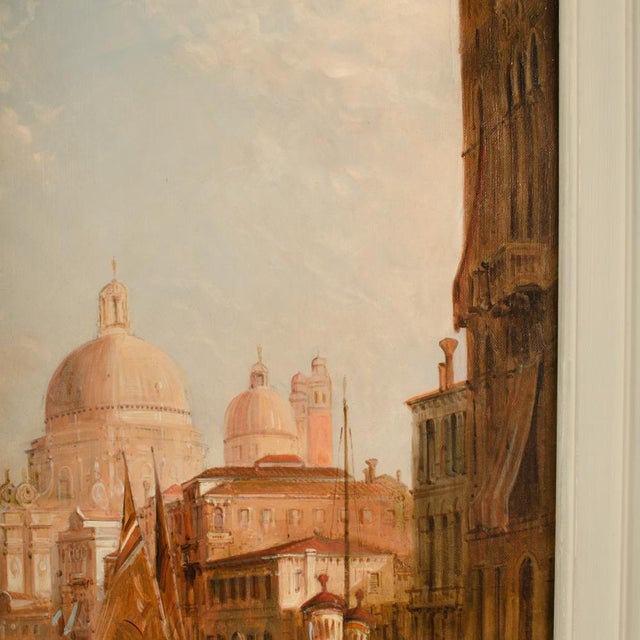 "Late 19th Century ""S. Maria Della Salute, Venice"" Oil Painting by Alfred Pollentine, Framed For Sale - Image 9 of 12"